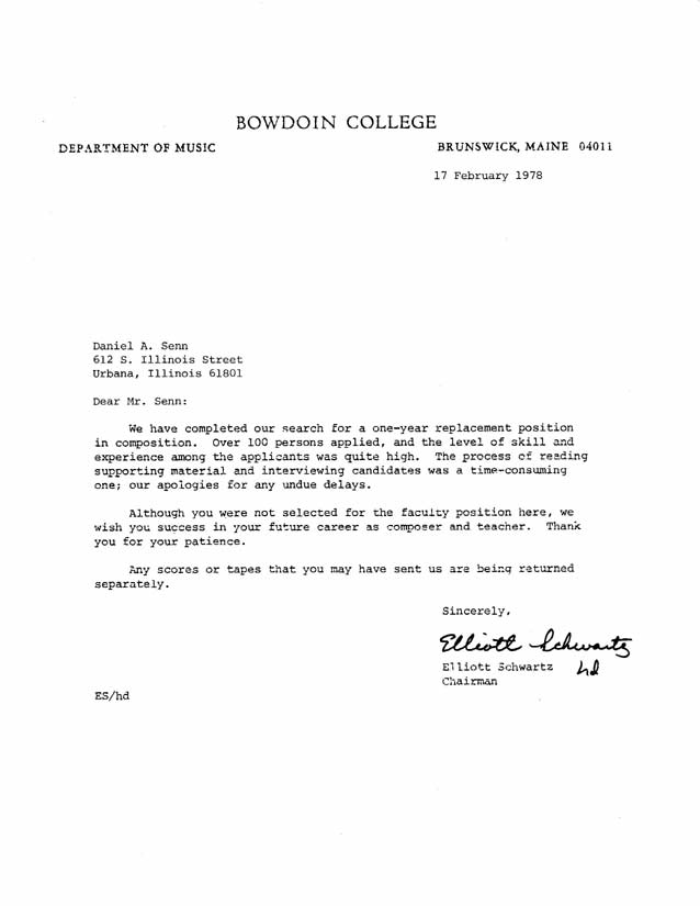 vendor rejection letter Korestjovenesambientecasco